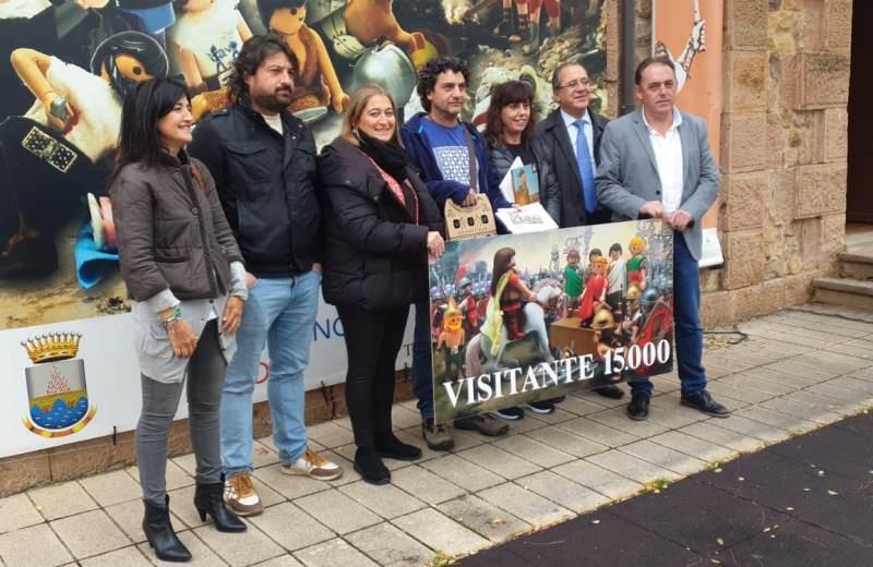 VISITANTE 15.000 EN EL DIORAMA JULIO CESAR LA GUERRA DE LAS GALIAS