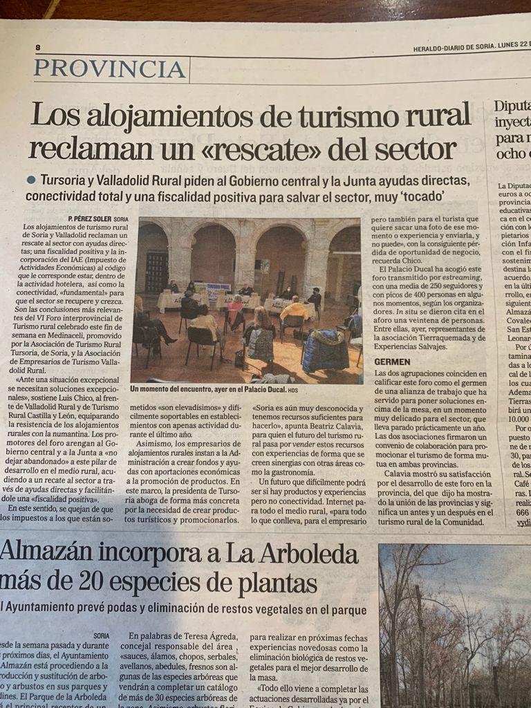 Noticia Congreso Casas Rurales en Medinaceli (Soria) 20 y 21 de marzo