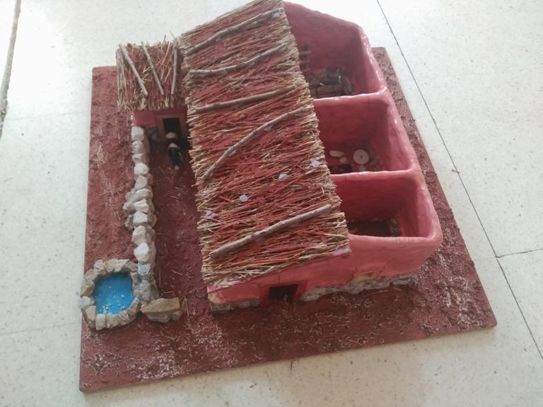 Casa Celtíbera elaborada por los alumnos del Ceip Doce Linajes