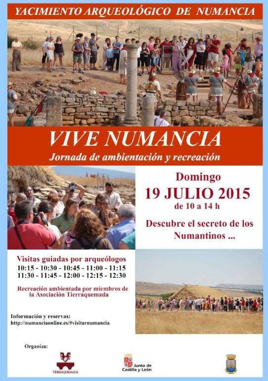 JORNADAS DE AMBIENTACIÓN Y RECONSTRUCCIÓN EN NUMANCIA EL 19 DE JULIO