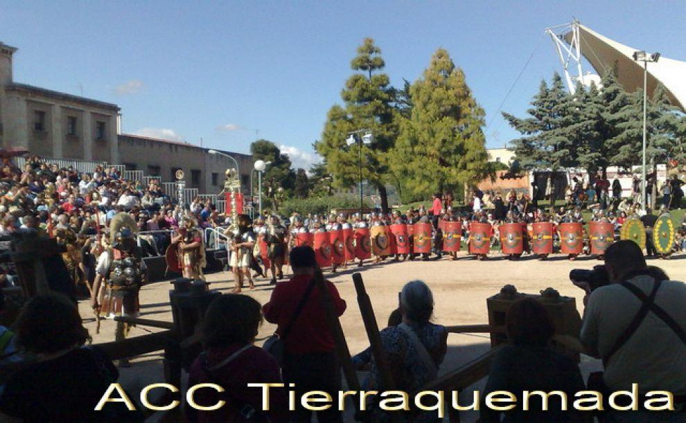 Legión romana ejercitándose en