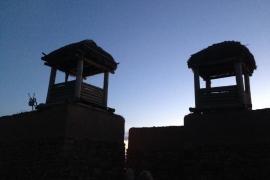 Torres reconstruidas de Numancia desde donde suena