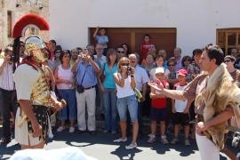 Escenificación el 28 de julio por la mañana en las calles de Garray del encuentro entre Retógenes y Escipión. Alfonso. Garray