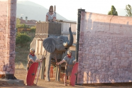 Los elefantes atacando a Numancia