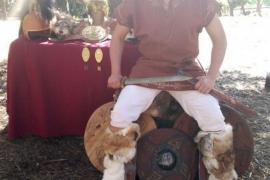 Guerrero numantino en la zona de los guerreros del poblado celtibérico de