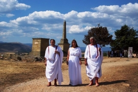 Patricios celtíbero-romanos en la Jornada de Puertas Abiertas del Yacimiento de Numancia, 11 de agosto de 2007.. ACC Tierraquemada. Numancia (Garray)